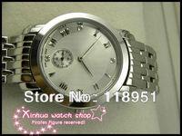 New Hot High quartz movement sapphire crystal, small seconds Roman scale steel Swiss men's watch brands  V80