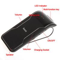 New Wireless Bluetooth Car Kit Handsfree Speakerphone Speaker Phone Hands Free Car Kit + Car Charger