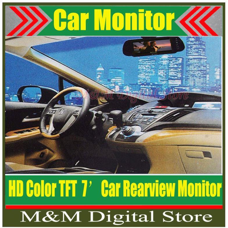 "Factory Selling New 7"" TFT LCD Color Screen Car Monitor rearview camera VCR,free shipping dropshipping Wholesale(China (Mainland))"