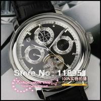 Hot new luxury business multifunction hollow flywheel belt automatic movement sapphire crystal Swiss brand men's watch big dial