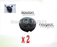 2 x Rubber Pad Peugeot 106 206 306 406 Car Key Shell Case New etc.