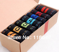 Creative men socks cotton week  socks sports socks candy colour free shipping