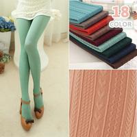 L103 Autumn 160D Multicolour Fashion Women's Pantyhose Vertical Striped Llove Heart Wheat High Elastic Velvet Skinny Tights 18C