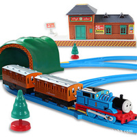 Electronic 2014 new Thomas train track baby kids boy and friends brinquedos motor model with rail for children christmas gift