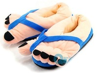 Funny Indoor Big Toes Feet Warm Soft Slippers