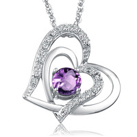 Fashion Design Sterling Silver SWA ELEMENTS Austrian Crystal Heart Pendant Necklace Tow Colors With Gifts