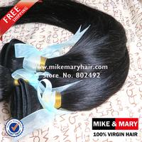 Free Shipping Mike & Mary Malaysian Virgin Hair Straight 3pcs/lot Natural Color 1b 5a Grade Unprocessed  NO SHIDDING