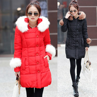 4 Colors Plus Size XXL 2013 Winter New Arrival Down Cotton-Padded Jacket Women's Snow Wear Thick Wadded Coat Ladies Parkas Coats