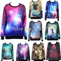 HOT! SEXY! Women 3D Galaxy Sweatshirts, Space Print Pants BLACK Black Milk 3D Galaxy Sweatshirts