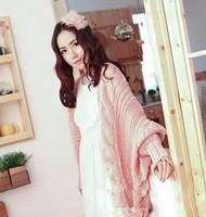 2014 wholesale women a generation of fat cape cardigan sweater coat female Korean bat sleeve sweater shawl the shawl sweater