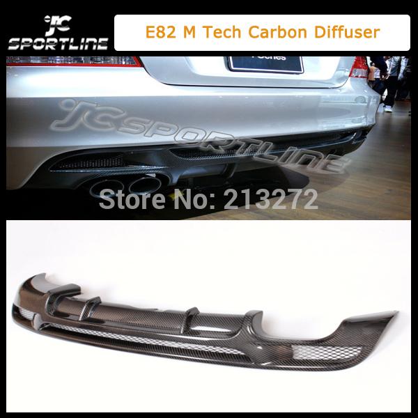 Auto carbon rear diffuser for BMW 1 series 135i E82 M tech style rear bumper spoiler lip Fit:08-12 E82 coupe M Tech bumper(China (Mainland))