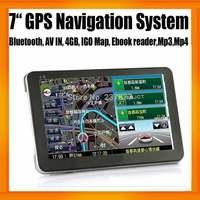 Best Seller 7inch HD Portable MTK GPS Navigator FMT Bluetooth AV IN 8GB Memory Win CE 6.0 OS Free Map 128MB