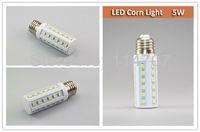 2pcs/lot High Brightness E27/E14/B22 5W 36LEDs SMD 5050 Corn Light Bulb Lamp Warm White / Pure White 220-240V/110V Free Shipping