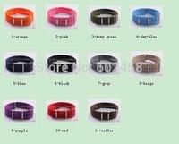 Wholesale 10pcs/lot Pure color 18MM Straps Nylon Watchband Band Strap 11color available