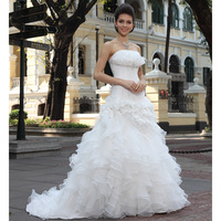 Alibaba lastest upper draped taffeta pleated sexy backless long back short front wedding dresses
