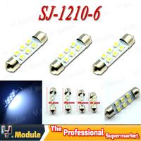 Wholesale!!! 2000 X 31mm/36mm/39mm/41mm White 1210 3528 6 LED Festoon Dome LED Light Bulbs 6SMD Parking Lamps Break Light#YNK01