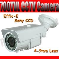 700TVL Waterproof IR Camera with Sony CCD Effio-E 4-9mm Lens 36pcs IR Leds Night Vision Outdoor CCTV Camera