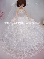FREE SHIPPING girls's gift luxurious wedding dress gown clothes for barbie doll-Item no.71 *5