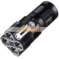 Free shipping.Nitecore TM26 4 x CREE XM-L U2 LED 4 x 18650/ 8 x CR123 Flashlight 3500LM Waterproof Rescue Search Torch-IM13483R6
