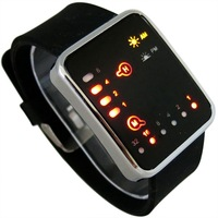 Hot ! Retail Binary LED Watches for Men / Fashion Digital Wristwatches / Ladies Men Lovers' Silicone Sports Watch LED009