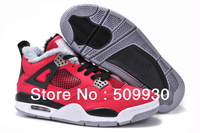 2013 WINTER cheap name brand RETRO IV J 4 red black WOOL WARM  Men  Basketball Shoes  size 8-13