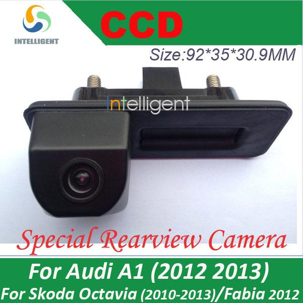 For skoda octavia fabia audi A1 car Rear view camera Car parking camera Trunk handle camera Night vision waterproof color(China (Mainland))