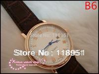2014 New Hot slim small seconds dial waterproof big belt senior Swiss quartz movement men's watch brands  P70