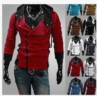 2013 New Assassin's Creed 3 Desmond Miles Hoodie Costume Coat Jacket Cosplay Hoodie M-6XL 7 Colors