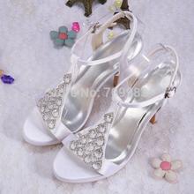 white wedding sandals promotion