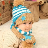 new 2014 autumn -summer winter warm children cap scarf  boy girl hats caps kids beanies 4 months-6 years baby hat, free shipping