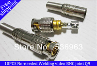 10Pcs CCTV BNC Plug Male to Spring Head Connector Adapter For Camera DVR Video RF New