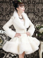 Autumn Winter New 2013 Luxury Women Double Breasted  Faux Rex Rabbit Fur Big Fox Fur Collar Casual&Fashion Down Coat Vest 4012