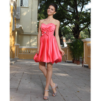 Bestselling!! Satin A-line Strapless Short Mini Cocktail Party Dresses Sweetheart Prom Dresses 2013 NE11158