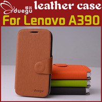 Duegu leather case for Lenovo A390/A390T, original colorful high quality  Lenovo A390 leather case cover hot sale in stock