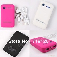 1PC Useful Rechargeable External Dual USB Portable External Battery Power Bank Mobile Charger 8600mAh 750456