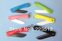 Vitory Brand Ceramic Folding Knife with Gift Box Ultra Sharp Fruit Ceramic Knife CE FDA certified,Free Shipping