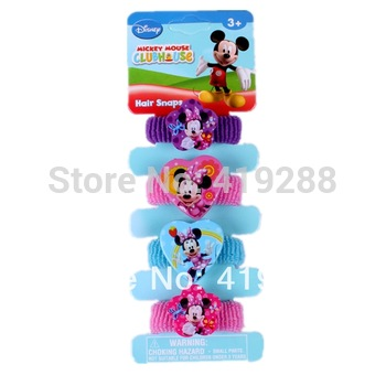 Minnie Mickey Cute Elastic Baby Girl Kid's Child Children Hair Bands Ties & Hair Pin BB Clip Hair Accessories Sets PAH-3001B