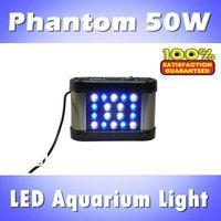 Phantom 50W LED aquarium light for coral reef dimmable & timing, blue: white =1:1, full spectrum (customizable)