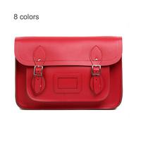Famous Brand Designer Vintage British Style Real Leather Shoulder Cross-body Bags Genuine Leather Messenger Satchel Handbag