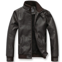 Free shipping 2013 men and men's fashion new velvet jacket with cashmere leather men's all-match slim leather