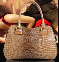 2013 fashion women's famous designer handbag light crocodile leather pattern handbag shoulder bag messenger bag women