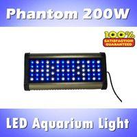 Phantom 200W LED aquarium light, fish tank lights dimmable with controller blue: white =1:1/2:1/1:2 (customizable)