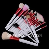 Free ShippingFreeshipping-Professional 20 pcs makeup Cosmetic Brush Set with pink case SKU:M0092