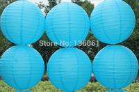 Sky Blue Round  Paper Lantern Lamp Festival&wedding Decoration Party Supplies lantern Festive  DIY 10pcs  12''(30cm)  Z1389