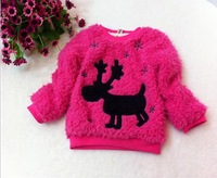 new 2014 baby girl sweater cute deer cardigan baby girl /4pcs/lot coats and jackets for children free shipping Wholesale