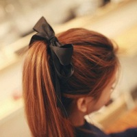 Free shipping!Accessories sweet ribbon large bow hair band bead headband hair accessory head jewelry chain wholesale