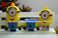 "NEW 2013 Hot sell ""Despicable Me"" usb flash drive 2GB 4GB 8GB 16GB 32GB Pen drive Memory Flash 2.0 Pendrive"