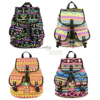 2013 New Fashion Lady Korean Stylish Vintage National Backpack Floral Canvas Bag School Bag knapsack 2 Colors 18368