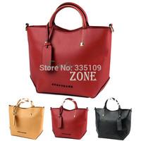 2013 Autumn New Listing Korea Woman Handbags Faux Leather OL Style Tote Messenger Shoulder bag Satchel 18367 B002