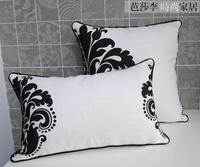 Wholesale! 2PCS 30cm*50cm+45CM*45CM  black & white pattern cushion pillows decorate cover 2PCS/ lot sofa cushion cover